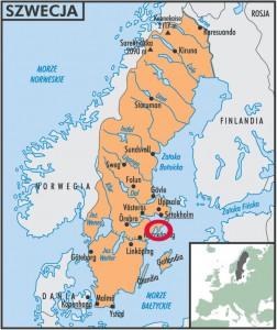 Szwecja - mapa