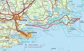 Mapa trasy Bałtyku pod wiosłem 2010