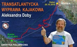 Transatlantycka wyprawa kajakowa Aleksandra Doby