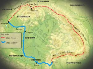 Mapa wyprawy Karpackie Wyzwanie 2013