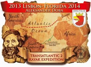 Plakat 2. Transatlantyckiej Wyprawy Kajakowej