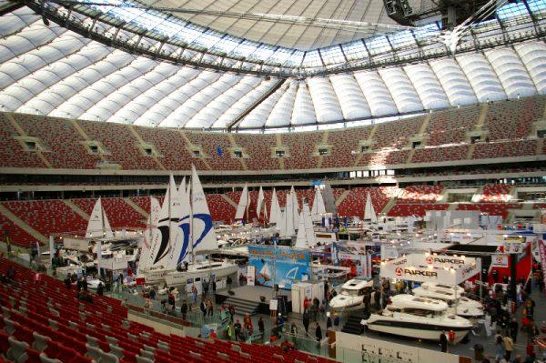 Na Stadionie było mnóstwo jednostek pływających, ale zabrakło wody (fot. Kinga Kępa)