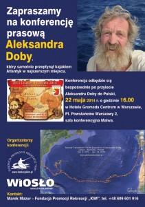 Platat konferencji prasowej Aleksandra Doby