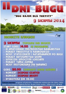 """Plakat akcji """"II dni Bugu"""""""