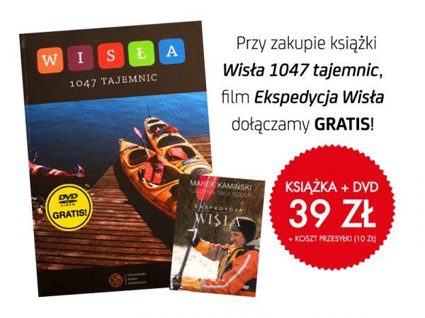 "Plakat promocji książki ""Wisła 1047 tajemnic"""