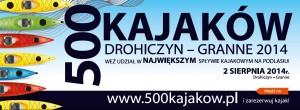 """Plakat spływu """"500 kajaków"""""""