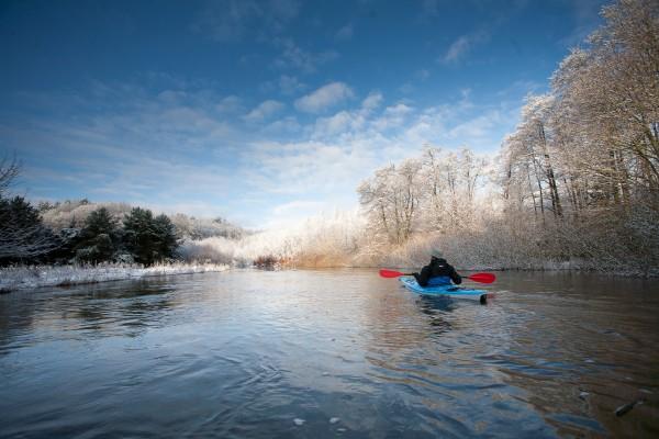 Pływamy zimą (fot. Wojciech Grela)