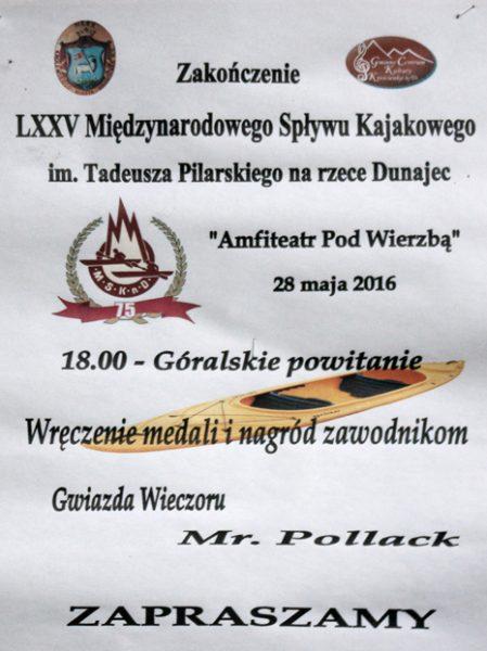 Plakat informujący o uroczystym zakończeniu MSKnD